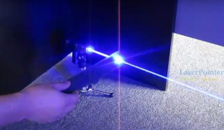 Actual power test — strong & waterproof blue laser pointer